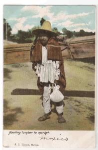Hauling Lumber to Market Mexico 1907c postcard