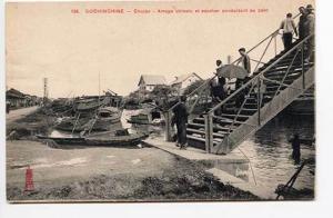Cochinchine Choion Arroyo chinois et escalier conduisant au pont Postcard