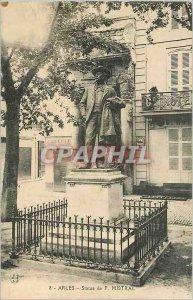 Old Postcard Statue of Arles F Mistral