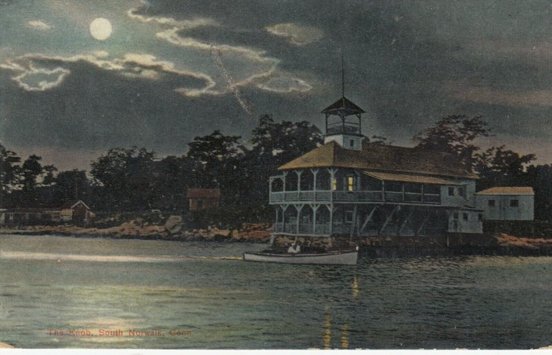 NORWALK , Connecticut , 1908 ; The Knob at night