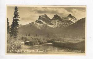 RP, Three Sisters, Banff, Alberta, Canada, 1920-1940s