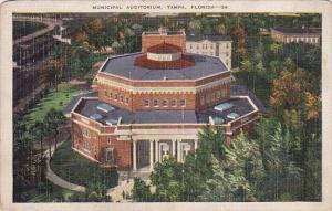 Florida Tampa Municdipal Auditorium 1940