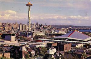 WA - Seattle, 1962. Seattle World's Fair (Century 21 Exposition). Aerial View...