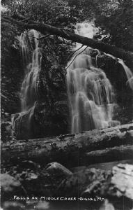 Signal Mountain Tennessee Middle Creek Falls Real Photo Vintage Postcard J926761