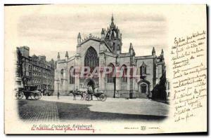Old Postcard Edinburgh St Giles Cathedral