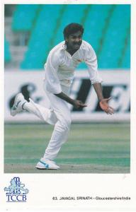 Javagal Srinath Gloucestershire India International Cricketer Cricket Postcard