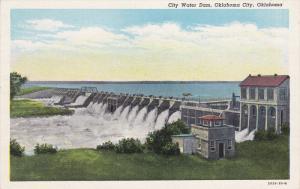 OKLAHOMA CITY, Oklahoma, 1900-1910's; City Water Dam