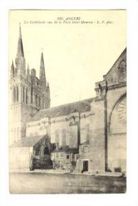 La Cathedrale Vue De La Place Saint-Manrice, Angers (Maine-et-Loire), France,...