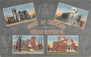 Cedar Rapids IA~Art Nouveau Churches~1st & Westminster Presbyterians~?? c1914s