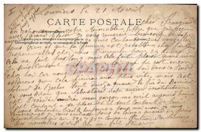 Postcard Former Bank Caisse d & # 39Epargne and rue Saint Germain Louviers (T...