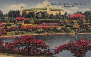 Hershey Rose Garden and Hotel Hersey, Hershey, PA, early postcard, Unused