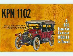 comic - QSL CB HAM RADIO CARD Toledo Ohio OH s0180