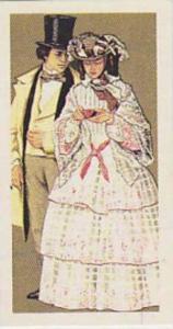 Brooke Bond Vintage Trade Card British Costume 1967 No 34 Day Clothes Circa 1856