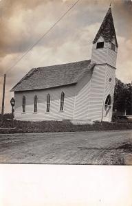 Sanborn Iowa~Church Off Foundation~Tornado of June 5th 1914~Real Photo~RPPC
