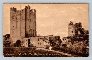 Richmond Castle, The Keep, Robin Hood's Tower, Vintage United Kingdom Postcard