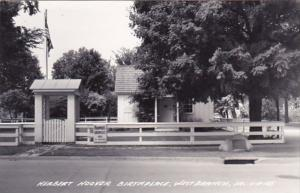 Herbert Hoover Birth Place West Branch Iowa Real Photo