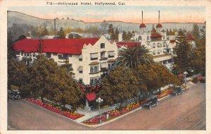 Hollywood Hotel, Hollywood, California, Early Postcard, Unused