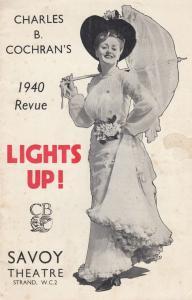 Lights Up WW2 Doris Hare Noel Gay War Musical London Variety Theatre Programme
