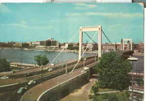 Hungary, Budapest, Elisabeth Bridge, unused 1960s Postcard