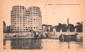 Liege Belgium, Belgique, Belgie, Belgien Les Ruines du Pont de Commerce Liege...