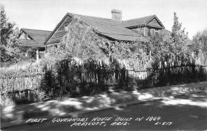 1st Governor's Home Built 1864 1954 RPPC Cook Postcard Prescott Arizona 4157