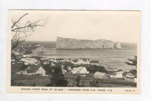 RP, Rocher Perce Rock Et Village, Panorama From S.W. Perce, Quebec, Canada, 1...