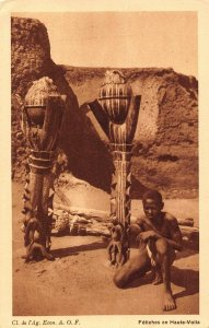 Burkina Faso Upper Volta native ethnic postcard