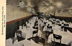 Salt Lake City Utah Bismarck Cafe Interior Antique Postcard K55705
