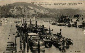 CPA ROUEN-Quai de PARIS Groupe de remorqueurs dans le Bassin (348452)