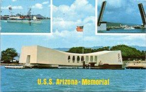 postcard Hawaii - Pearl Harbor U.S.S. Arizona Memorial multiview