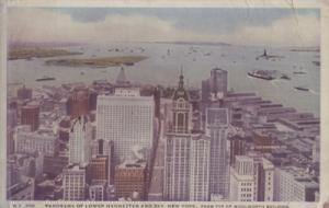 NEW YORK CITY - LOWER MANHATTAN view  - early 1910s era / UNDEVELOPED
