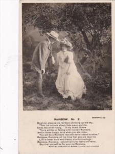 Bamforth Romantic Couple Rainbow No 2 1908