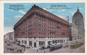 Exterior,  Palace Hotel,  Corner Market and New Montgomery Sts.,   San Franci...