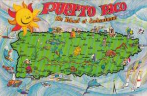 Puerto Rico Map Of The Island Of Enchantment