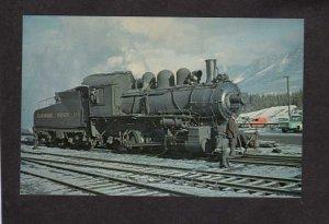 Alberta Canmore Mines Railroad Train Locomotive 4 Canada Carte Postale Postcard