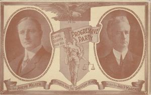 PROGRESSIVE PARTY, Massachusetts, 1910; Candidates for Governor & Lt Gov.
