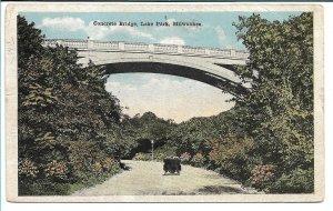 Milwaukee, WI - Concrete Bridge - Lake Park - 1919