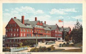 Bar Harbor Maine Malvern Hotel Exterior Entrance Antique Postcard K12135