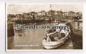 tp8719 - Yorks' - Yorkshire Belle Moored in a Busy Bridlington Harbour- Postcard