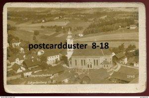 dc1697 - AUSTRIA Schardenberg 1940s Birds Eye View. Real Photo Postcard