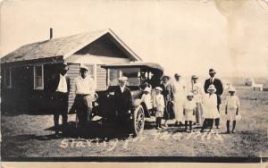 D56/ Bridger Mountains Montana Mt Real Photo RPPC Postcard c1910 Family Car