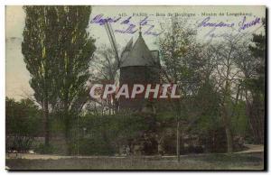 Paris Old Postcard Bois de Boulogne Moulin de Longchamp