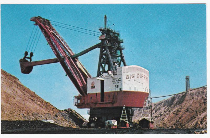 The BIG DIPPER Shovel for Strip Mining , Illinois , 50-60s