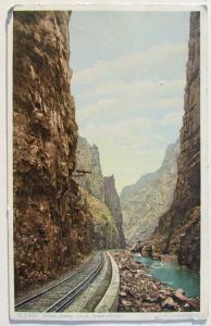 VINTAGE POSTCARD ROYAL GORGE COLORADO train railway railroad