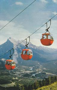 Banff Cablecars On Mt. Norquay, Banff National Park, Banff, Alberta, Canada, ...