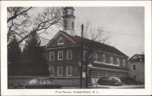 Haddonfield NJ Fire House Station Old Postcard
