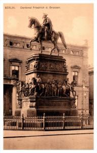 Germany Berlin Denkmal Friedrich d. Grossan  Monument