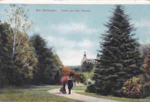 Couple, Bad Wildungen, Partie aus dem Kurpark, Frankenberg, Hesse, Germany, 1...