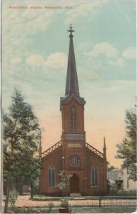 Ohio Postcard NELSONVILLE Athens County 1917 PRESBYTERIAN CHURCH