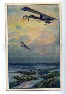 182819 WWI GERMANS airplanes SCHULZ vintage RPPC